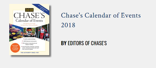 Chase's Calendar of Events | Rowman & Littlefield
