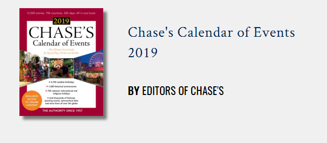 Chase Calendar February 2019 Chases Calendar of Events: Special Months | Rowman & Littlefield