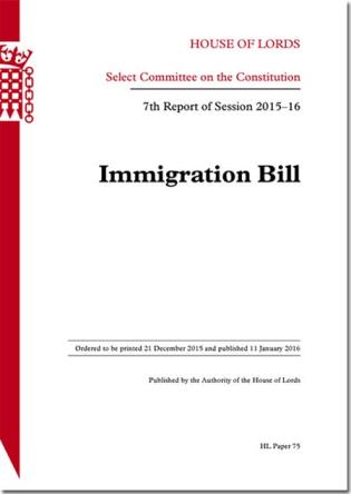 Cover image for the book Immigration Bill: 7th Report Of Session 2015-16: House Of Lords Paper 75 Session 2015-16