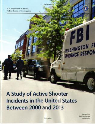 Cover image for the book A Study of Active Shooter Incidents in the United States Between 2000 and 2013
