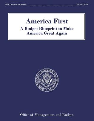 Cover image for the book America First: A Budget Blueprint To Make America Great Again