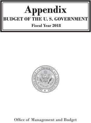 Cover image for the book Appendix, Budget of the United States Government, FY 2018