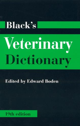 Cover image for the book Black's Veterinary Dictionary, 19th Edition