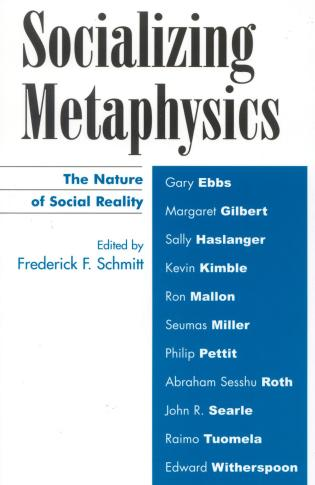 Cover image for the book Socializing Metaphysics: The Nature of Social Reality