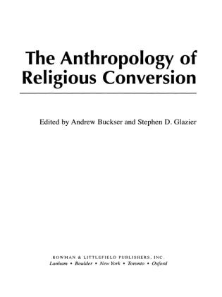 Cover image for the book The Anthropology of Religious Conversion