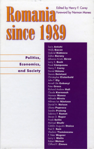 Cover image for the book Romania since 1989: Politics, Economics, and Society
