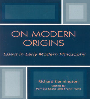 Cover image for the book On Modern Origins: Essays in Early Modern Philosophy
