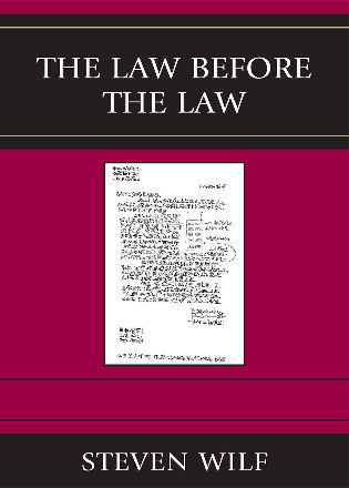 Cover image for the book The Law Before the Law