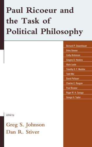 Cover image for the book Paul Ricoeur and the Task of Political Philosophy