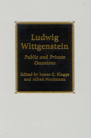 Cover image for the book Ludwig Wittgenstein: Public and Private Occasions