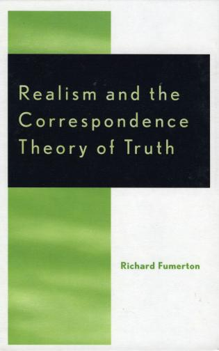 Cover image for the book Realism and the Correspondence Theory of Truth