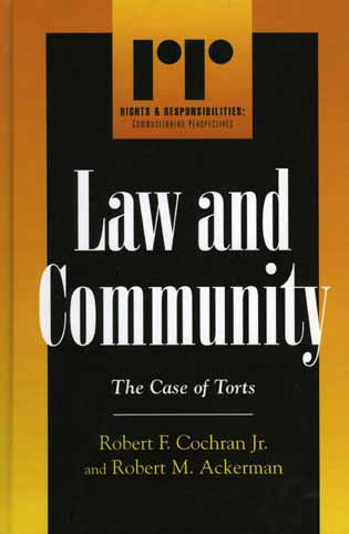 Cover image for the book Law and Community: The Case of Torts