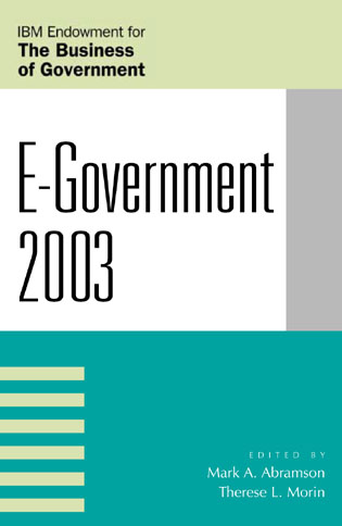Cover image for the book E-Government 2003