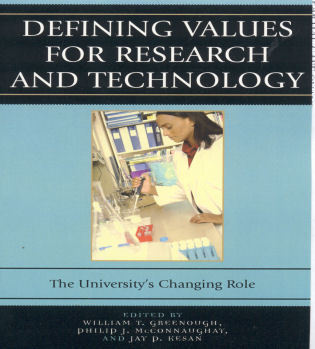Cover image for the book Defining Values for Research and Technology: The University's Changing Role
