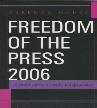 Cover image for the book Freedom of the Press 2006: A Global Survey of Media Independence