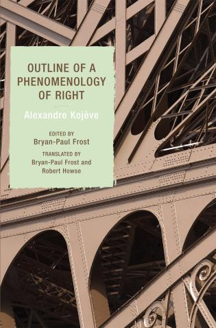 Cover image for the book Outline of a Phenomenology of Right