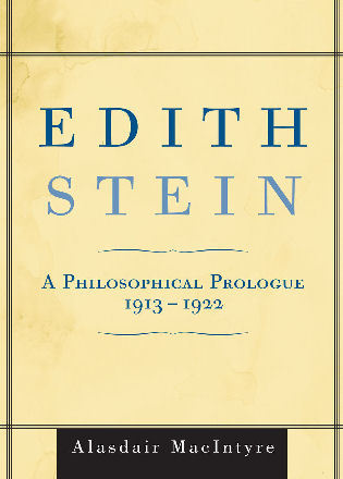 Cover image for the book Edith Stein: A Philosophical Prologue, 1913-1922