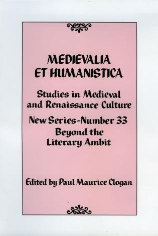 Cover image for the book Medievalia et Humanistica, No. 33: Studies in Medieval and Renaissance Culture