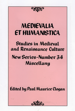 Cover image for the book Medievalia et Humanistica, No. 34: Studies in Medieval and Renaissance Culture