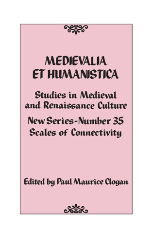 Cover image for the book Medievalia et Humanistica, No. 35: Studies in Medieval and Renaissance Culture