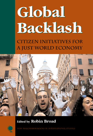 Cover image for the book Global Backlash: Citizen Initiatives for a Just World Economy