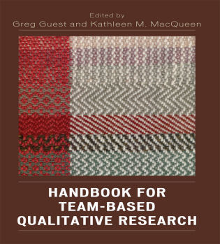 Cover image for the book Handbook for Team-Based Qualitative Research