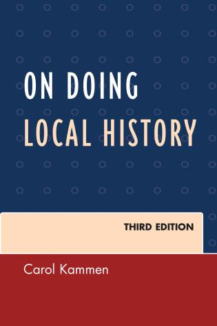 Cover image for the book On Doing Local History, Third Edition
