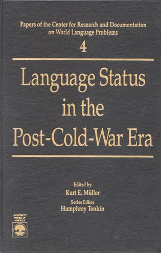 Cover image for the book Language Status in the Post-Cold-War Era