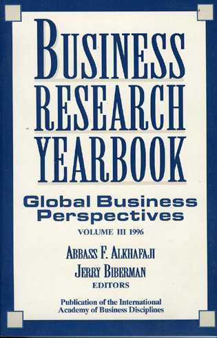 Cover image for the book Business Research Yearbook,: Global Business Perspectives, Volume III