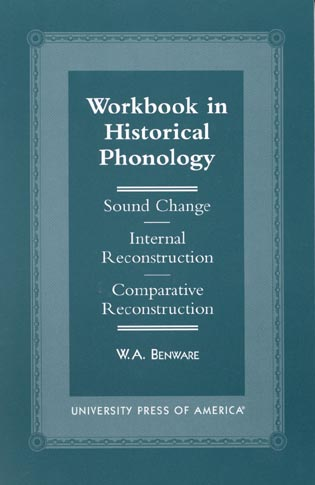 Cover image for the book Workbook in Historical Phonology: Sound Change, Internal Reconstruction, Comparative Reconstruction