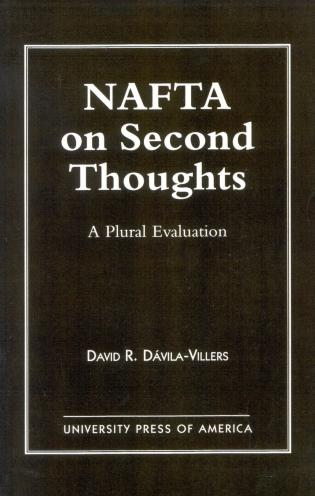 Cover image for the book NAFTA on Second Thought: A Plural Evaluation