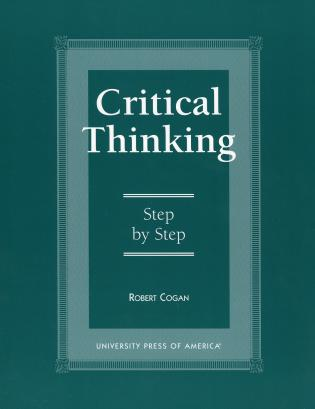 Cover image for the book Critical Thinking: Step by Step