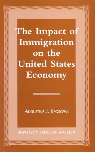 Cover image for the book The Impact of Immigration on the United States Economy