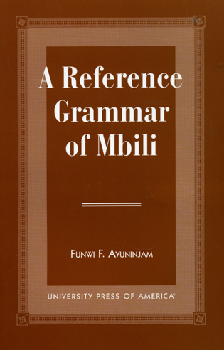 Cover image for the book A Reference Grammar of Mbili
