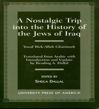 Cover image for the book A Nostalgic Trip into the History of the Jews of Iraq