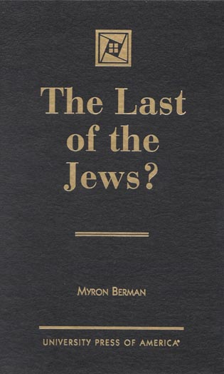 Cover image for the book The Last of the Jews?