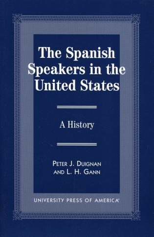 Cover image for the book The Spanish Speakers in the United States: A History