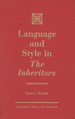 Cover image for the book Language and Style in The Inheritors