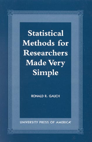 Cover image for the book Statistical Methods for Researchers Made Very Simple