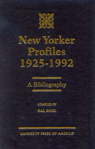 Cover image for the book New Yorker Profiles 1925-1992: A Bibliography