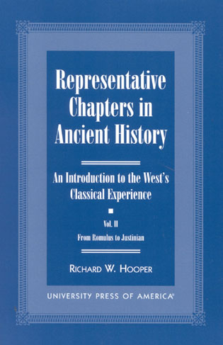 Cover image for the book Representative Chapters in Ancient History (Vols. I & 2): An Introduction to the West's Classical Experience: From Australopithecus to Alexander