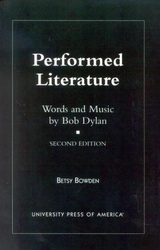 Cover image for the book Performed Literature: Words and Music by Bob Dylan