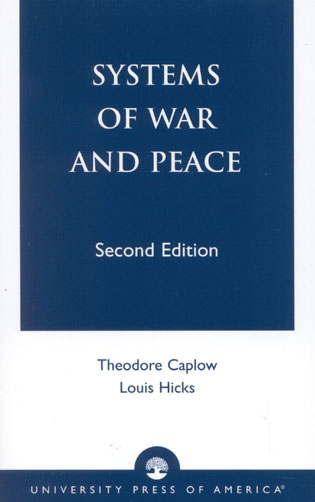 Cover image for the book Systems of War and Peace, Second Edition