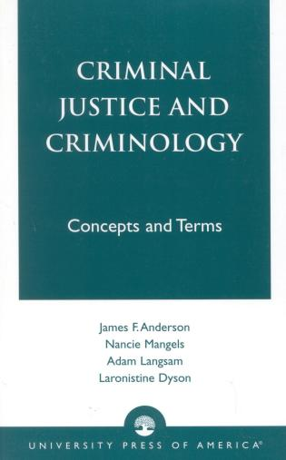 Cover image for the book Criminal Justice and Criminology: Concepts and Terms