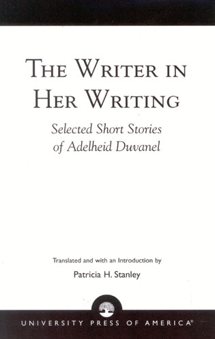 Cover image for the book The Writer in Her Writing: Selected Short Stories of Adelheid Duvanel