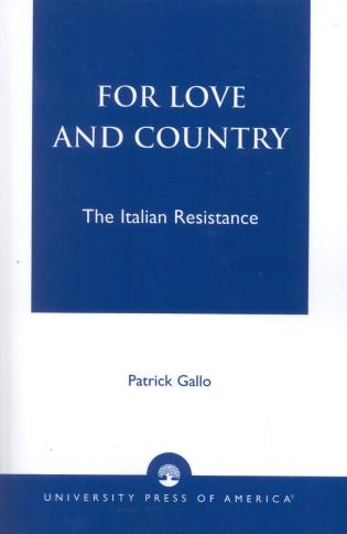 Cover image for the book For Love and Country: The Italian Resistance