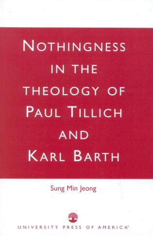 Cover image for the book Nothingness in the Theology of Paul Tillich and Karl Barth