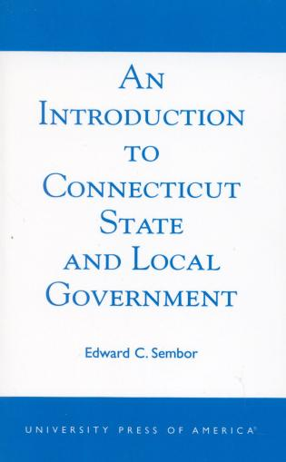 Cover image for the book An Introduction to Connecticut State and Local Government