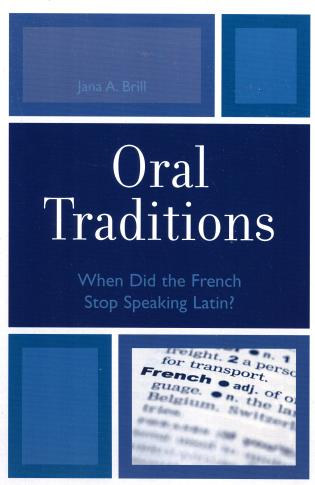 Cover image for the book Oral Traditions