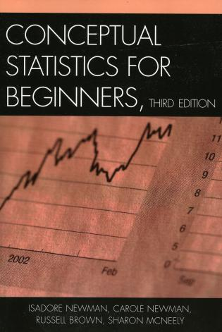 Cover image for the book Conceptual Statistics for Beginners, Third Edition